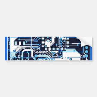 Blaue Leiterplatte Autoaufkleber