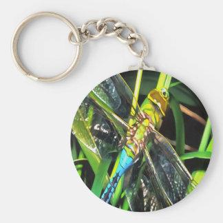 Blaue Libellen-Flügel Schlüsselanhänger
