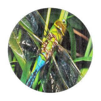 Blaue Libellen-Flügel Schneidebrett