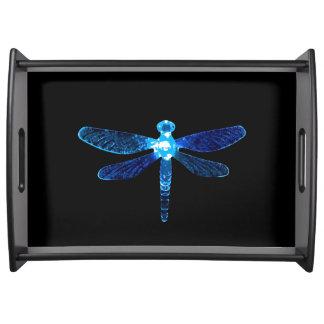 Blaue Libellen-großes Serviertablett