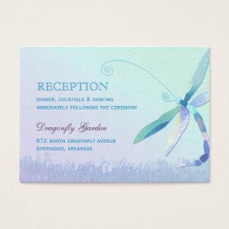 Blaue Libellen-Hochzeits-Empfangs-Einschließung Visitenkarte