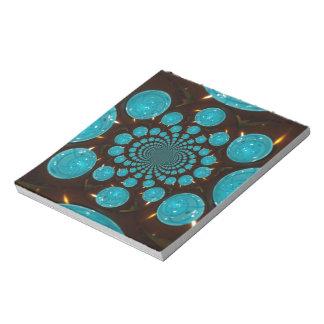 Blaue Lichter Notizblock