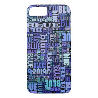 Blaue Liebhaber, blaues Muster auf dem Schwarzen, iPhone 7 Hülle