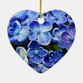 blaue lila Flieder des eleganten englischen Keramik Ornament