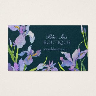 Blaue lila Iris-Termin-Karten Visitenkarten