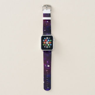 Blaue lila Mitternachtsgalaxie Apple Watch Armband