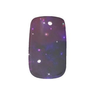 Blaue lila Mitternachtsgalaxie Minx Nagelkunst