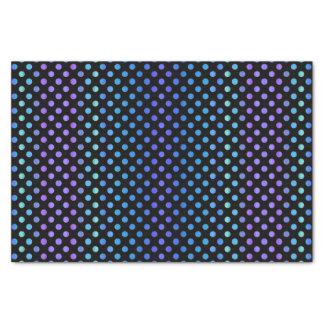 Blaue lila Punkte auf Schwarzem Seidenpapier