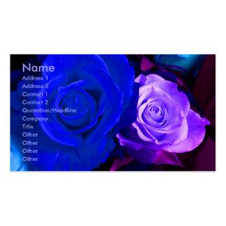Blaue lila Rosen-Künstler-Geschäfts-Karte Visitenkarten Vorlagen