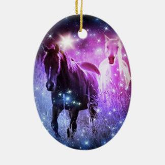 Blaue lila Sterne der romantischen Galaxie, die Keramik Ornament