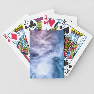Blaue lila weiße abstrakte himmlische Wolken Bicycle Spielkarten