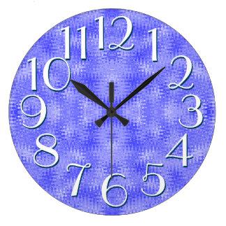 Blue Purple Wave Pattern Elegant Oversize Numbers