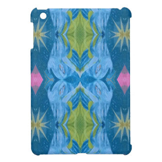 Blaue Limone Sternexplosion-Stammes- Muster iPad Mini Hülle