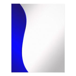Blaue Linie der Hintergrund-Marine auf angeredetem 21,6 X 27,9 Cm Flyer