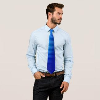 Blaue Linien Bedruckte Krawatte