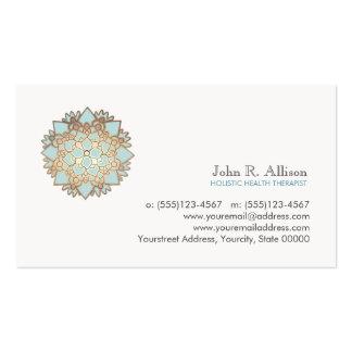 Blaue Lotus holistische heilende Künste und Visitenkarten