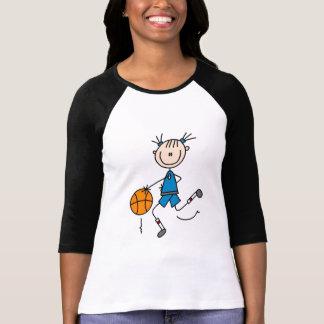 Blaue Mädchen-Basketball-T-Shirts und Geschenke T-Shirt