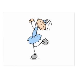 Blaue Mädchen-Zahl Skater-T-Shirts und Geschenke Postkarten