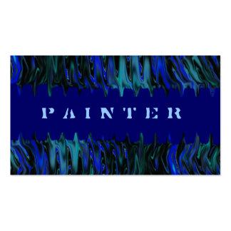Blaue Maler-Visitenkarte-Schablone Visitenkarten