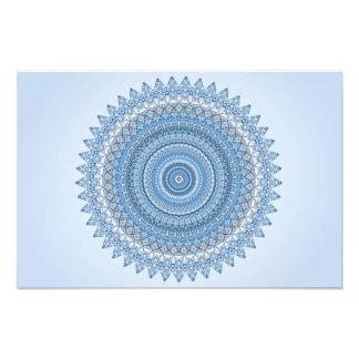Blaue Mandala Fotodruck