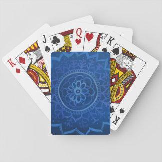 Blaue Mandala-klassische Spielkarten