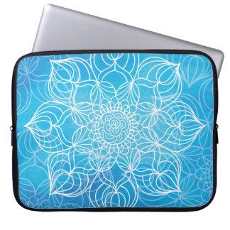 Blaue Mandala Laptopschutzhülle