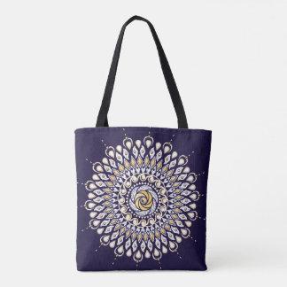 Blaue Mandala-Taschen-Mitternachtstasche Tasche