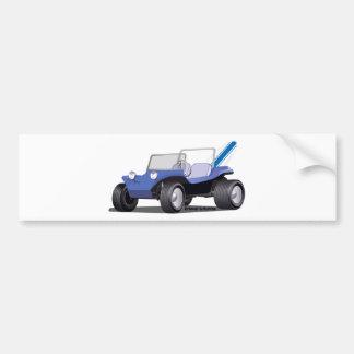 Blaue Manx Seite Autoaufkleber
