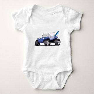 Blaue Manx Seite Baby Strampler