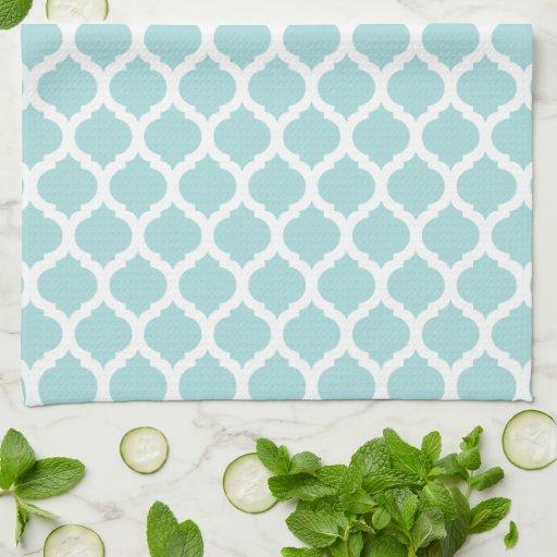 blaue marokkanische muster geschirrt cher k chenhandt cher zazzle. Black Bedroom Furniture Sets. Home Design Ideas