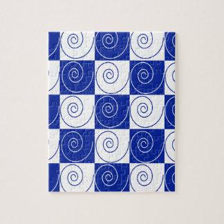 Blaue MäuseSchwanz-Drehungen Puzzle