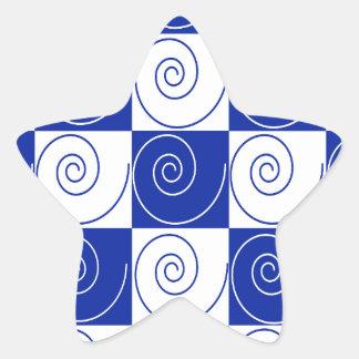 Blaue MäuseSchwanz-Drehungen Stern-Aufkleber