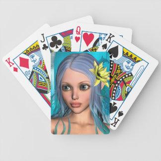 Blaue Meerjungfrau Bicycle Spielkarten