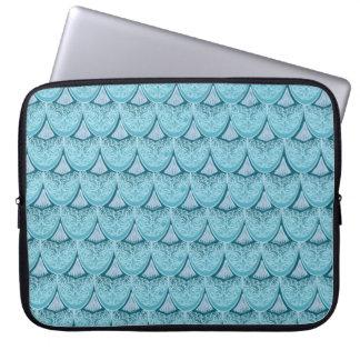 Blaue Meerjungfrauskalen, boho, Hippie, böhmisch Laptopschutzhülle