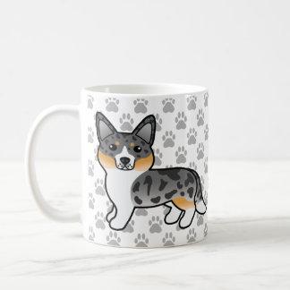 Blaue Merle Wolljacken-Walisercorgi-Cartoon-Hunde Kaffeetasse