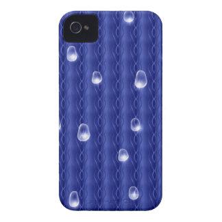 Blaue Metall mit Regentropfen iPhone 4 Cover