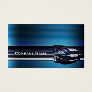 Blaue Metallmustang-Auto-Visitenkarte Visitenkarte