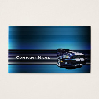 Blaue Metallmustang-Auto-Visitenkarte Visitenkarten