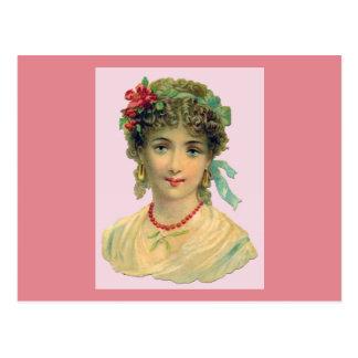 Blaue mit Augen viktorianische Frau Postkarte