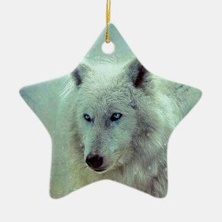 Blaue mit Augen Wolf-Malerei-Grafik Keramik Ornament