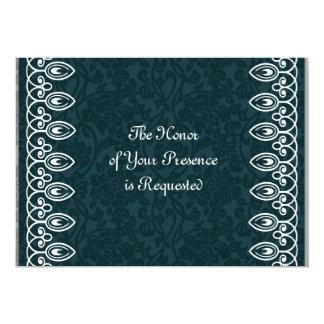 Blaue mittelalterliche 12,7 x 17,8 cm einladungskarte