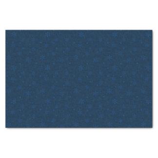 Blaue Mitternachtsschneeflocken Chanukkas Seidenpapier