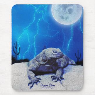 Blaue Monitor-Eidechsen-Drache-Reptil-Kunst Mousepad