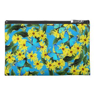 Blaue Morpho Schmetterlings-Blumen-Zusatz-Tasche Reisekulturtasche