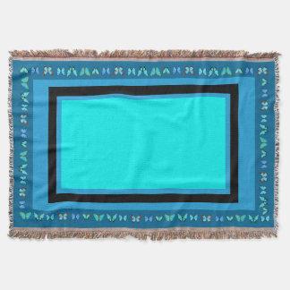 Blaue Morpho Schmetterlings-Tier-Wurfs-Decke Decke