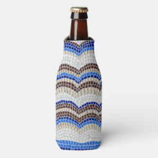 Blaue Mosaik-Flasche cooler Flaschenkühler