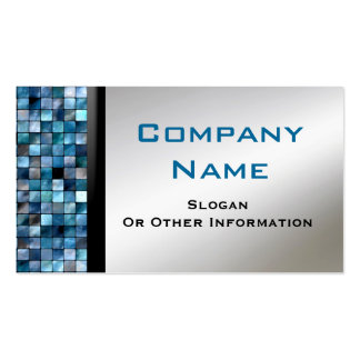 Blaue Mosaik-Fliesen-Visitenkarten