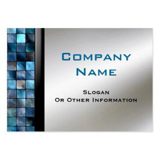 Blaue Mosaik-Fliesen-Visitenkarten Mini-Visitenkarten
