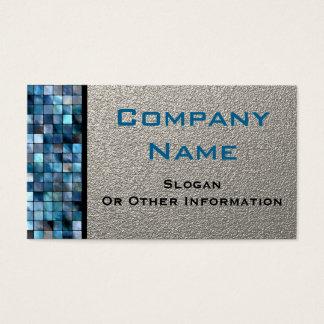 Blaue Mosaik-Fliesen-Visitenkarten Visitenkarten