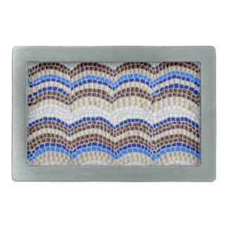 Blaue Mosaik-Rechteck-Gürtelschnalle Rechteckige Gürtelschnalle